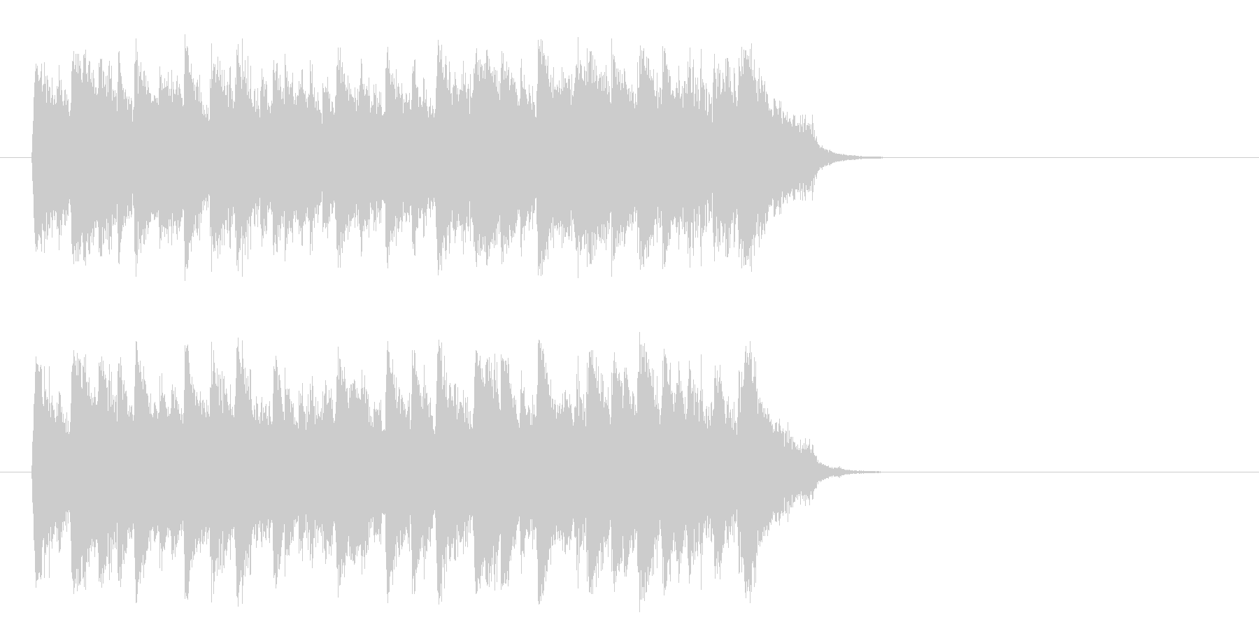感動のピアノ・バラード(サビ)の未再生の波形