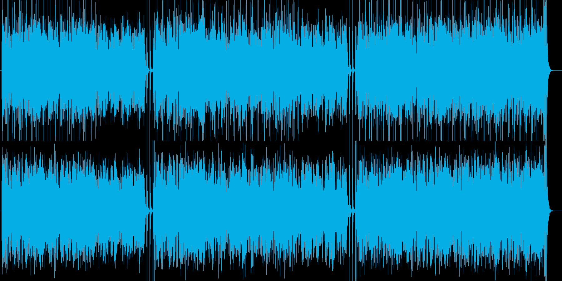 軽快なリズムのストリングス曲の再生済みの波形