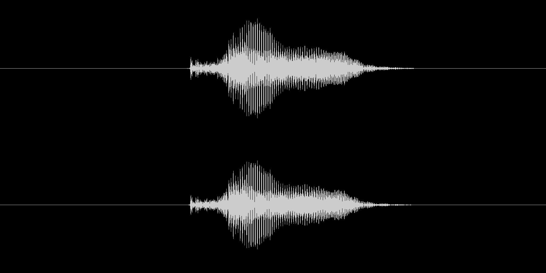 カン の未再生の波形