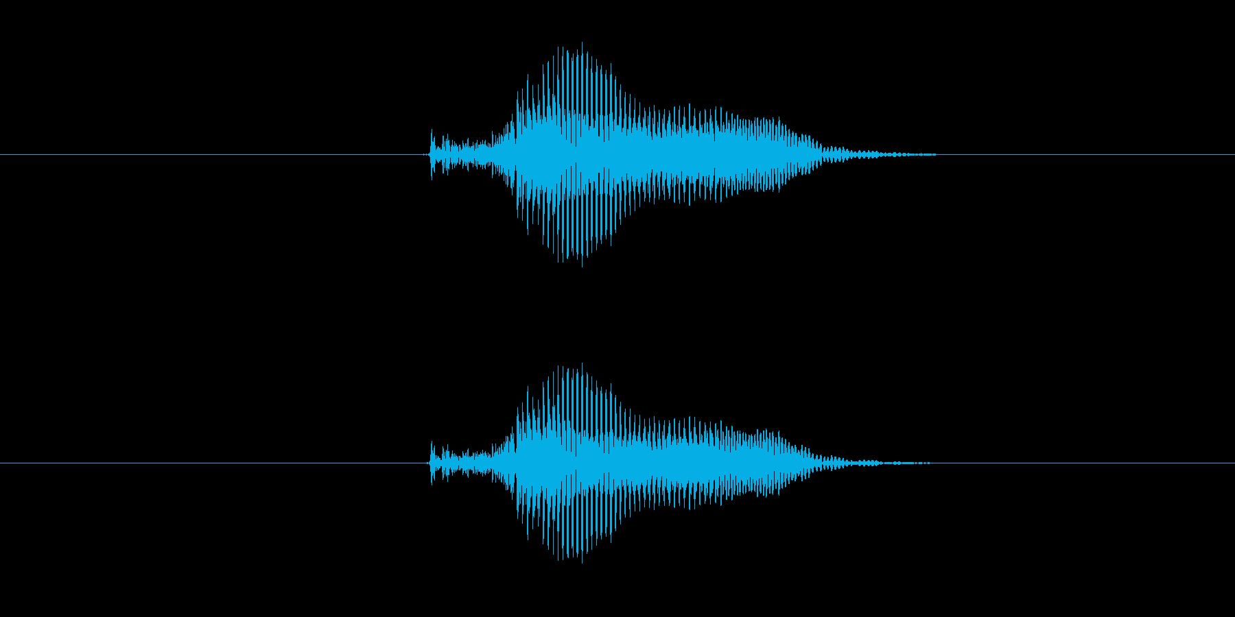 カン の再生済みの波形