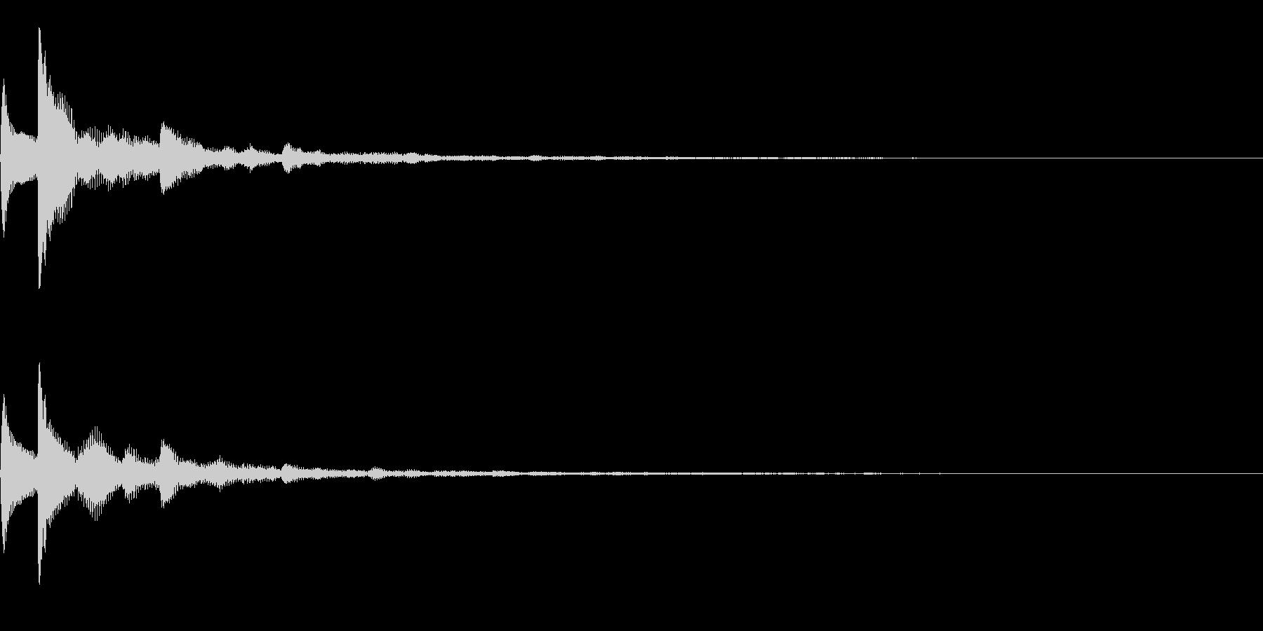 テロップ表示音~3和音の暗めな分散系~の未再生の波形