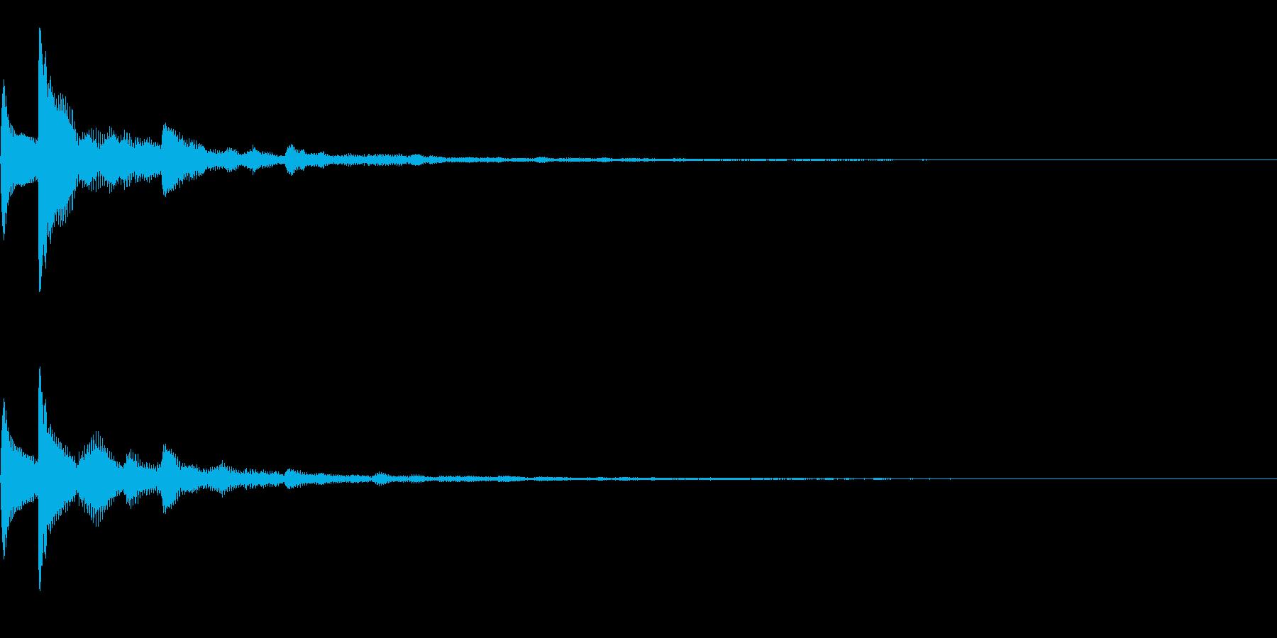 テロップ表示音~3和音の暗めな分散系~の再生済みの波形