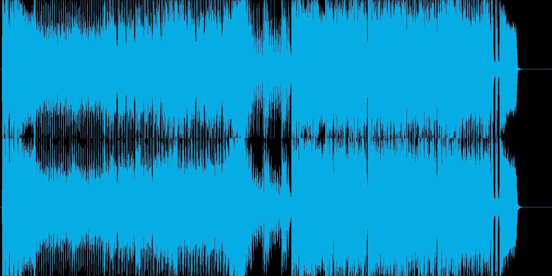 ゲーム用戦闘曲オーケストラロックの再生済みの波形