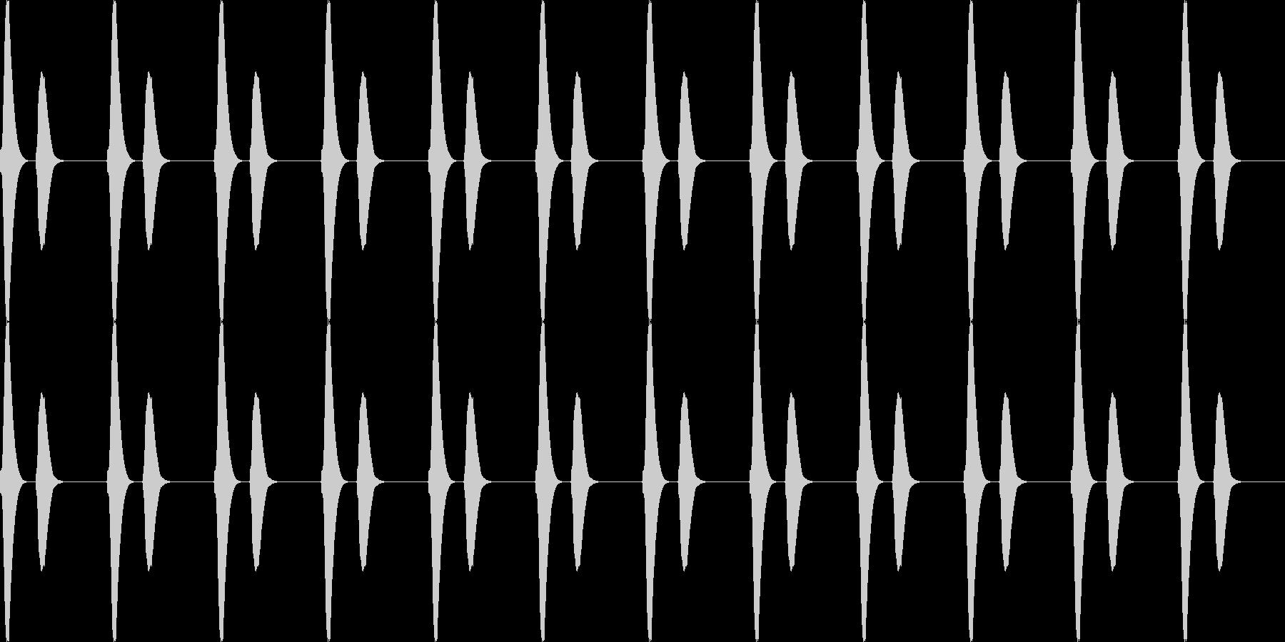 ポッポー...。鳩時計の時報D(低・長)の未再生の波形
