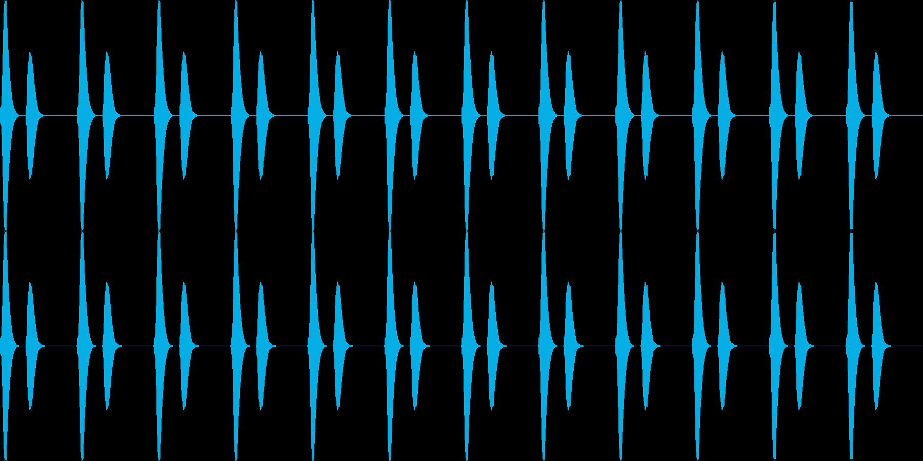 ポッポー...。鳩時計の時報D(低・長)の再生済みの波形