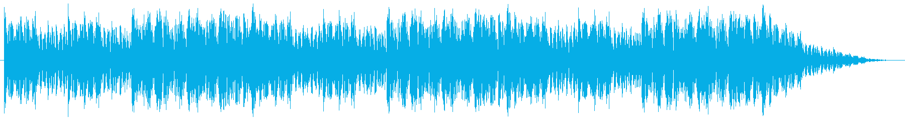 南国のバカンスをイメージしたループBGMの再生済みの波形