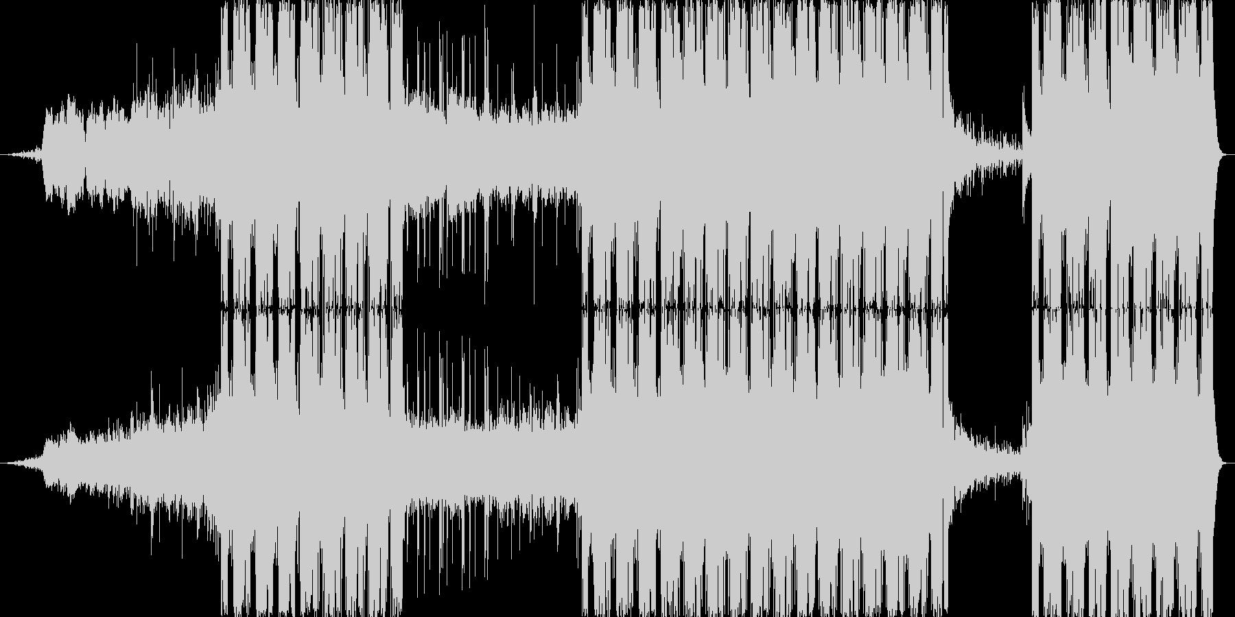 不可思議な雰囲気を持つEDMの未再生の波形