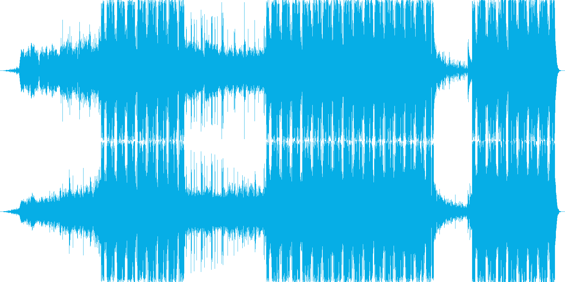 不可思議な雰囲気を持つEDMの再生済みの波形