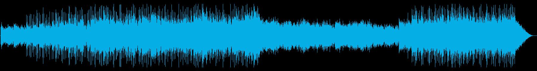 ドラムで引っ張る広大な風景ポストロックの再生済みの波形