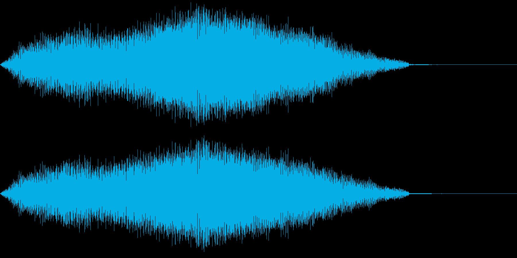ミステリアスな音 不安 不気味 ブーンの再生済みの波形