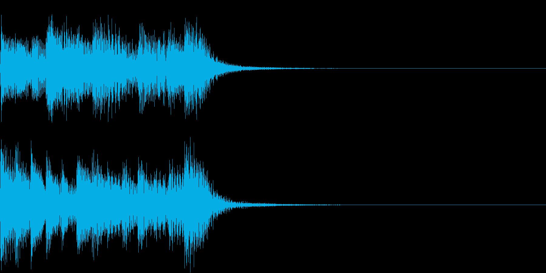 ノリノリなピアノSEジャズブルース風3秒の再生済みの波形