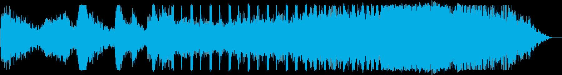 重いドアが開いていくイメージのBGMの再生済みの波形