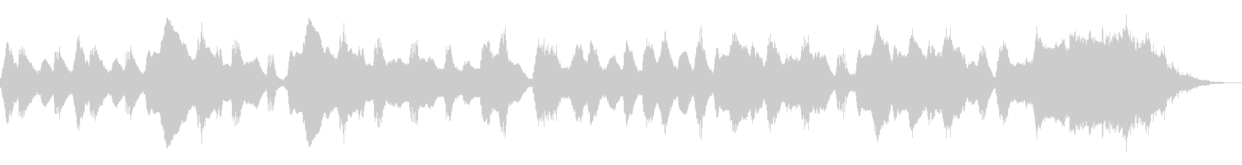 フルートが奏でる可愛いほのぼのジングルの未再生の波形