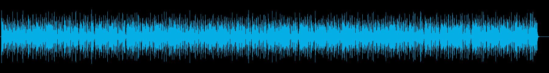 緩やかでまったりとしたエレキポップスの再生済みの波形