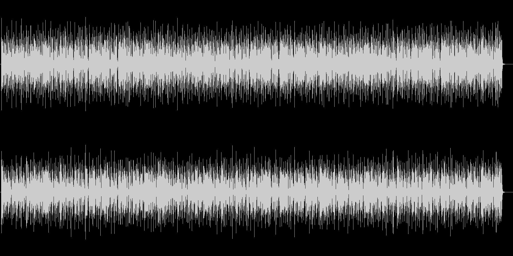 緩やかでまったりとしたエレキポップスの未再生の波形