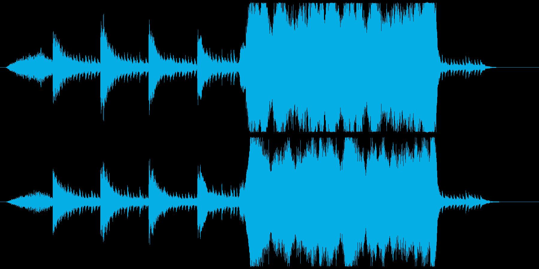 ピアノとストリングスの切なく壮大な曲の再生済みの波形
