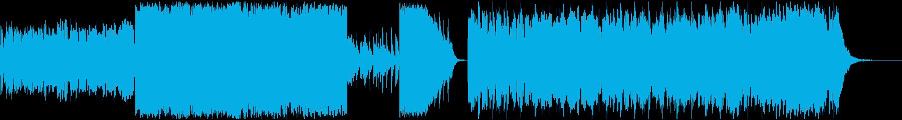 楽しげなケルト風BGMの再生済みの波形