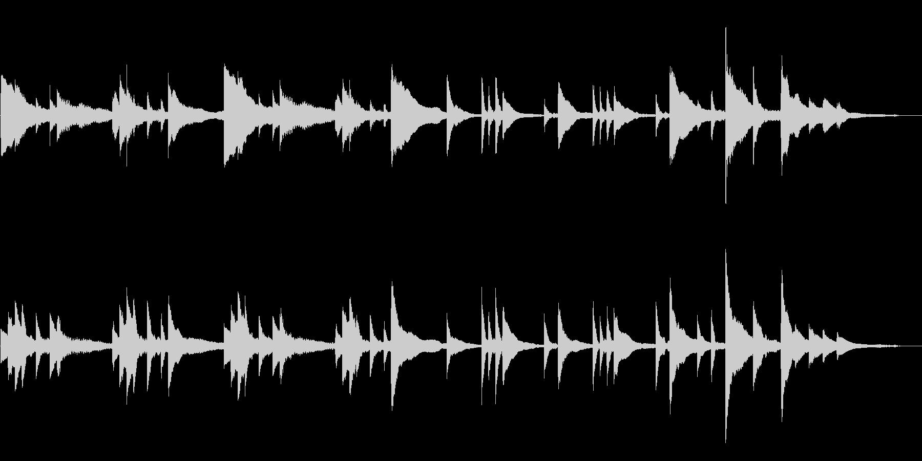 切なく綺麗なゆったりとしたピアノBGMの未再生の波形