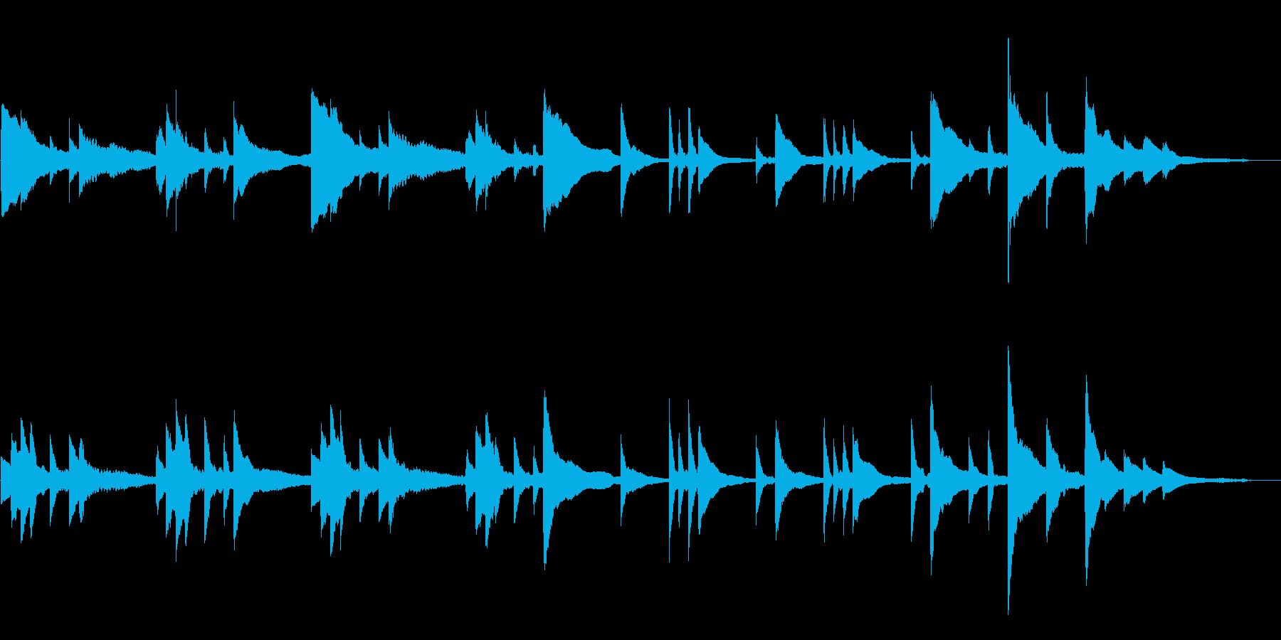切なく綺麗なゆったりとしたピアノBGMの再生済みの波形