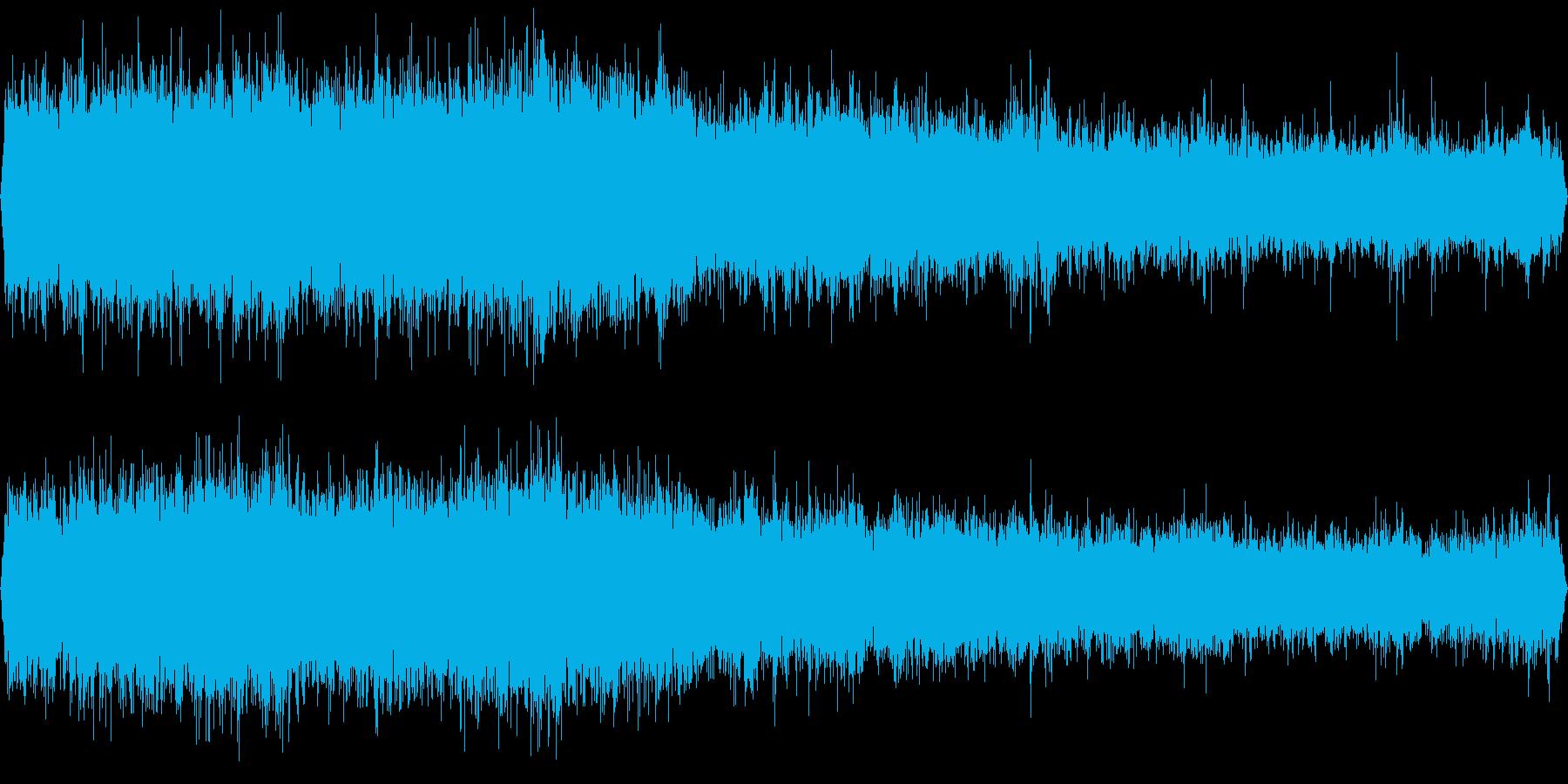 モノレール走行中の再生済みの波形