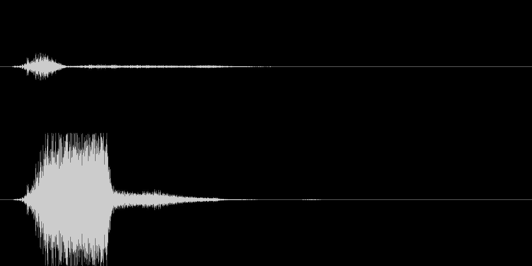 吹き飛ばし音の未再生の波形