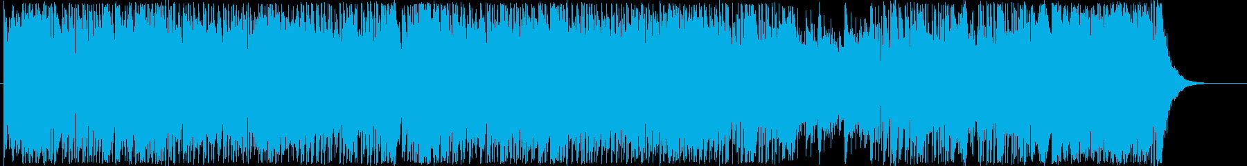 駆け回るようなアップテンポな曲の再生済みの波形