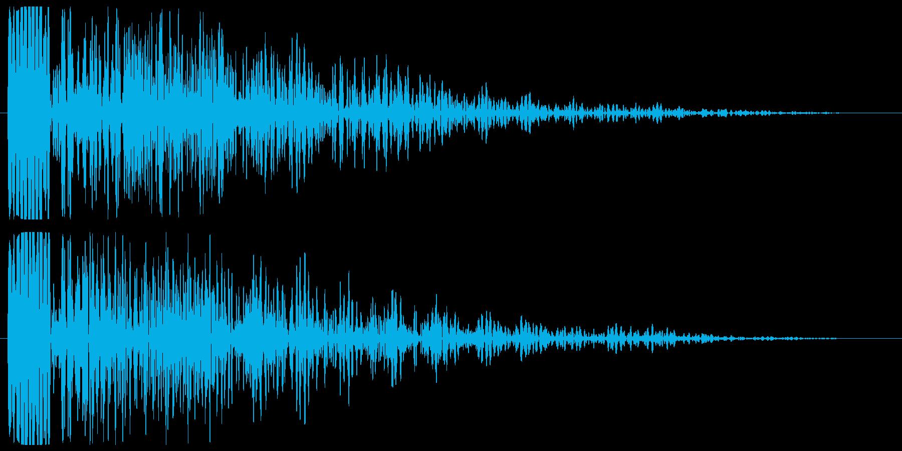 ボァ〜ン(起動音など)の再生済みの波形