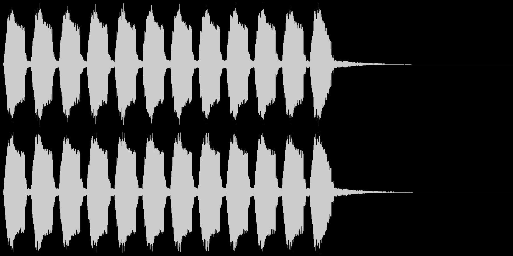 マシンガンの連射発砲音 ガガガガガガッ!の未再生の波形