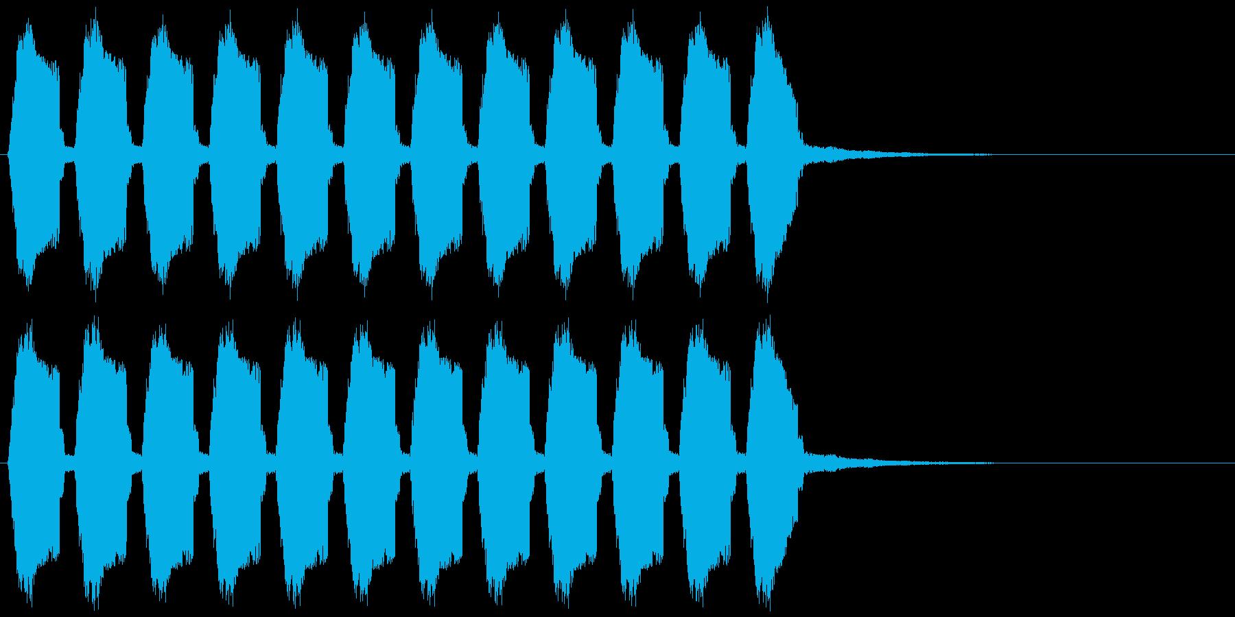 マシンガンの連射発砲音 ガガガガガガッ!の再生済みの波形