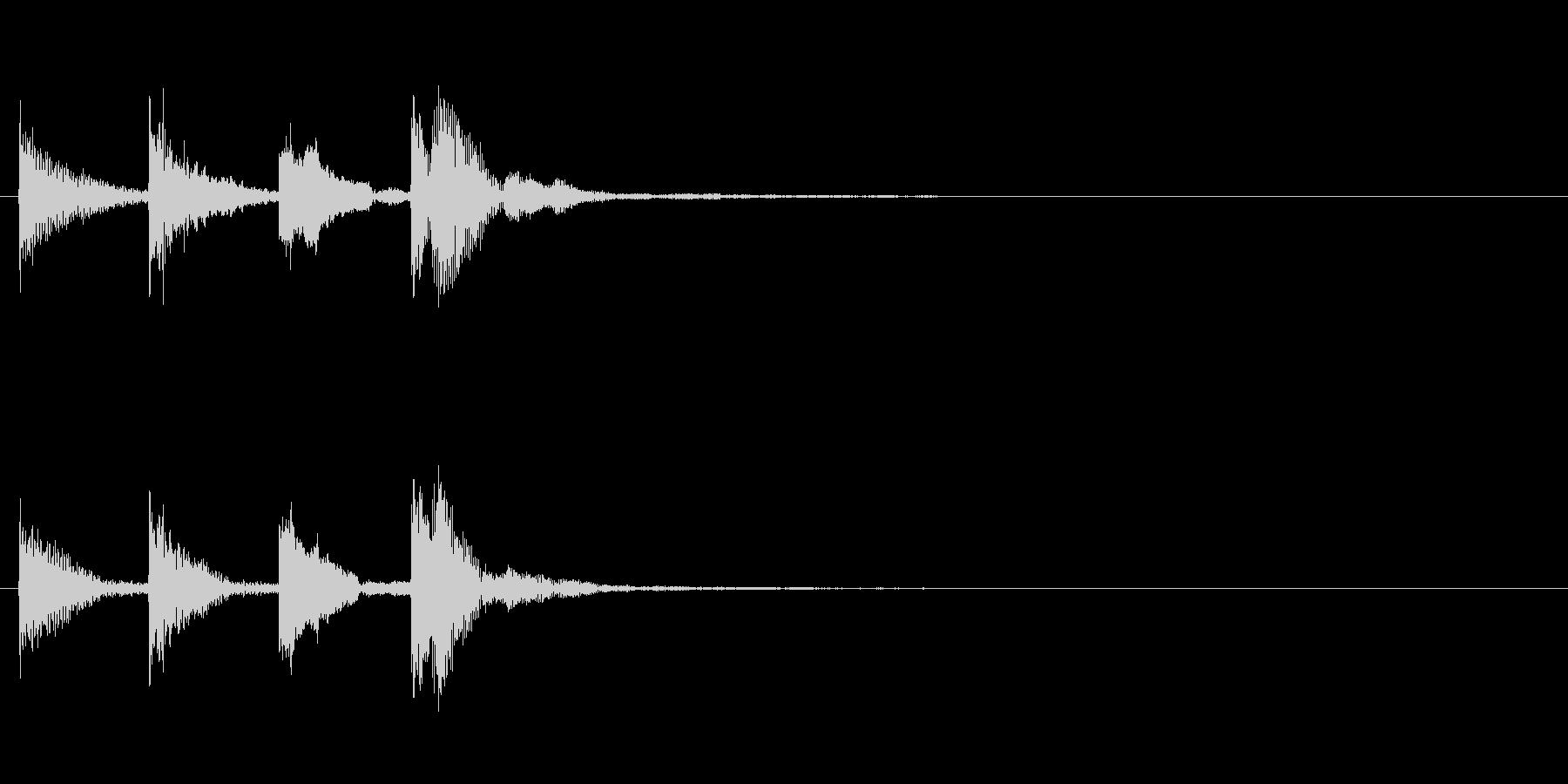 アフリカ民族楽器(チャイム風)の未再生の波形