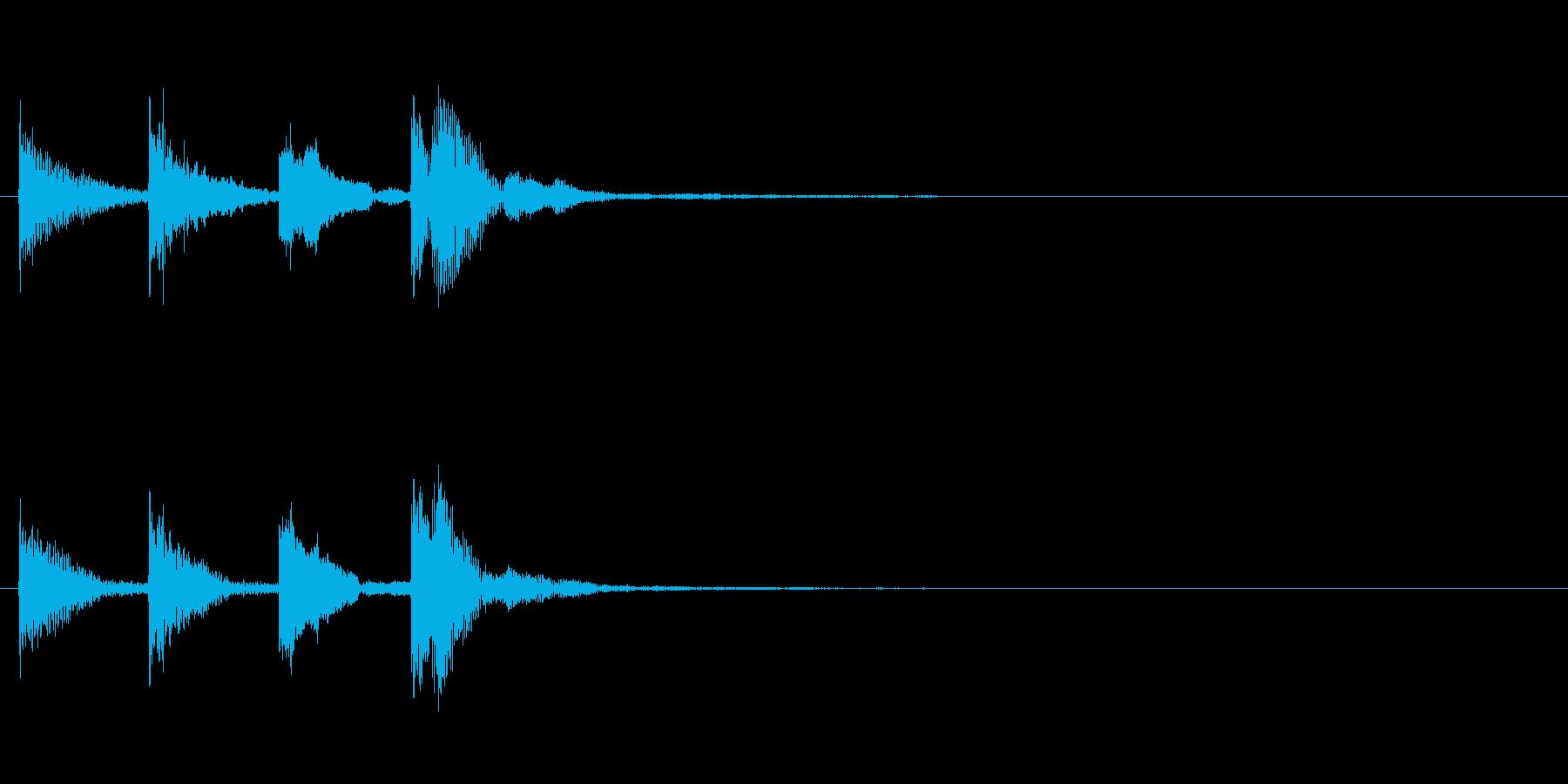 アフリカ民族楽器(チャイム風)の再生済みの波形