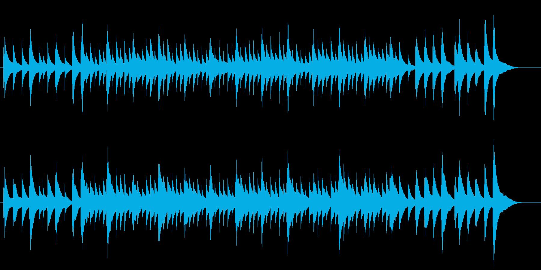 故郷をオルゴール風の音での再生済みの波形