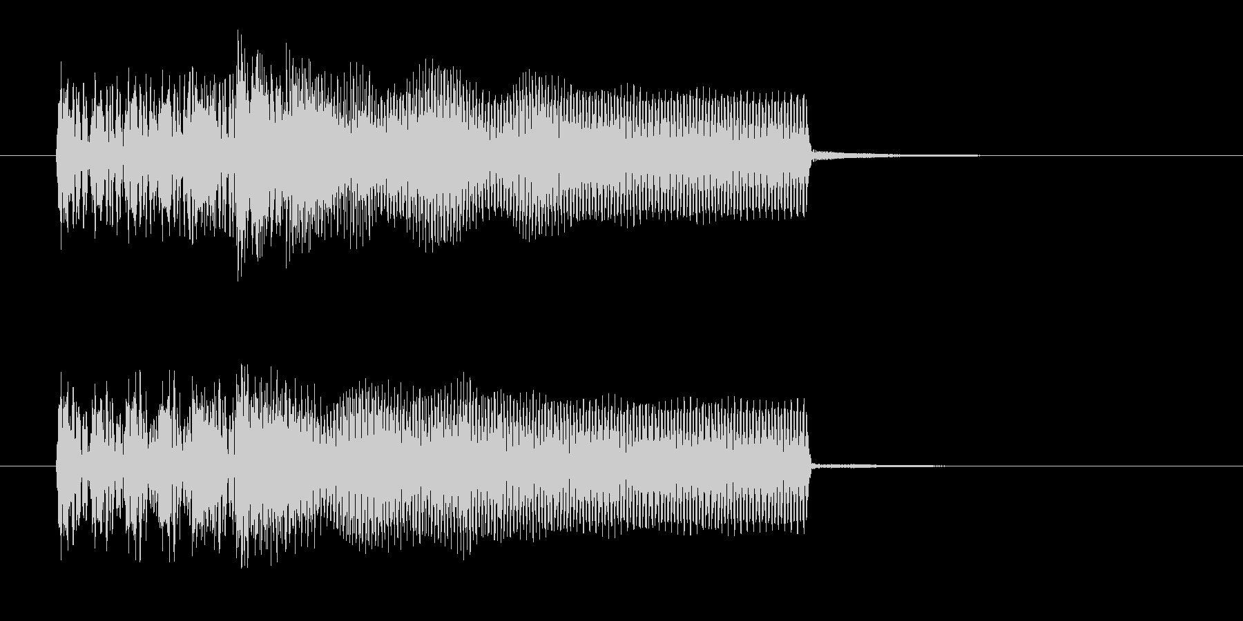 力強く勢いのあるギターサウンド短めの未再生の波形