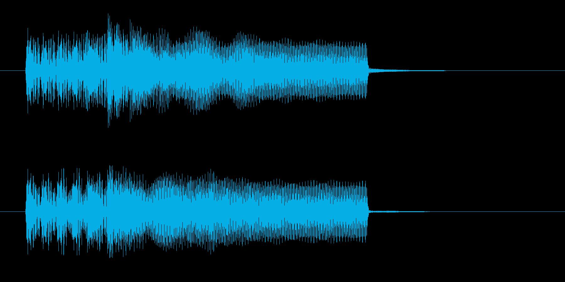 力強く勢いのあるギターサウンド短めの再生済みの波形