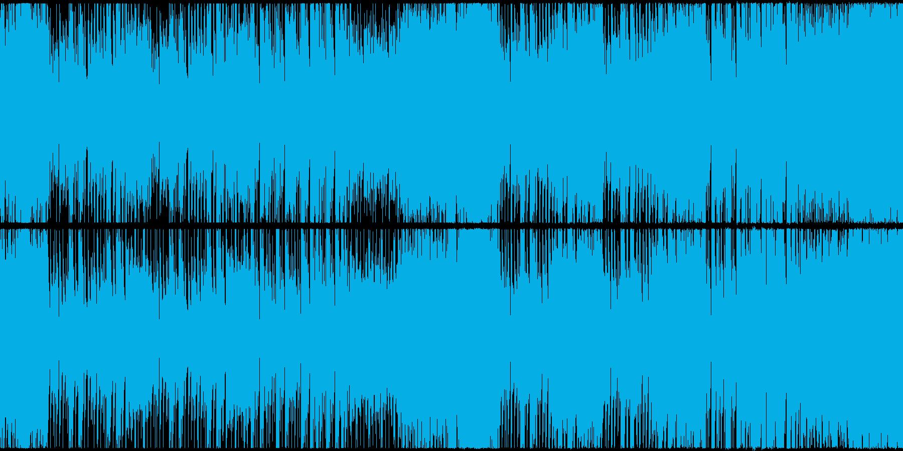 ハロウィン・ホラー・重々しい楽曲の再生済みの波形