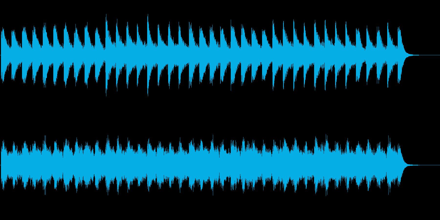 けだるくひんやりと流れるメロディーの再生済みの波形