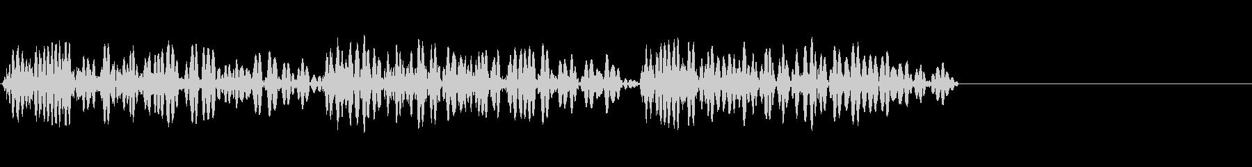 ドンドンドンとドアを叩く音の未再生の波形