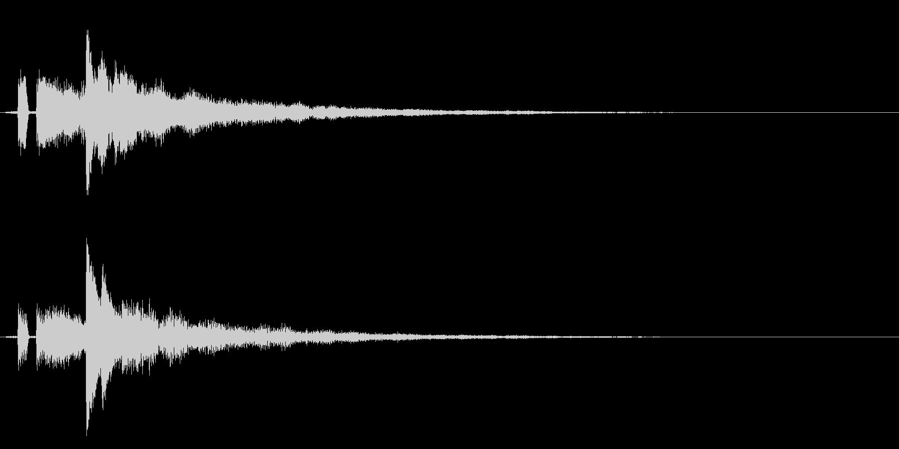 シンプルな決定/ボタン/クリック効果音4の未再生の波形