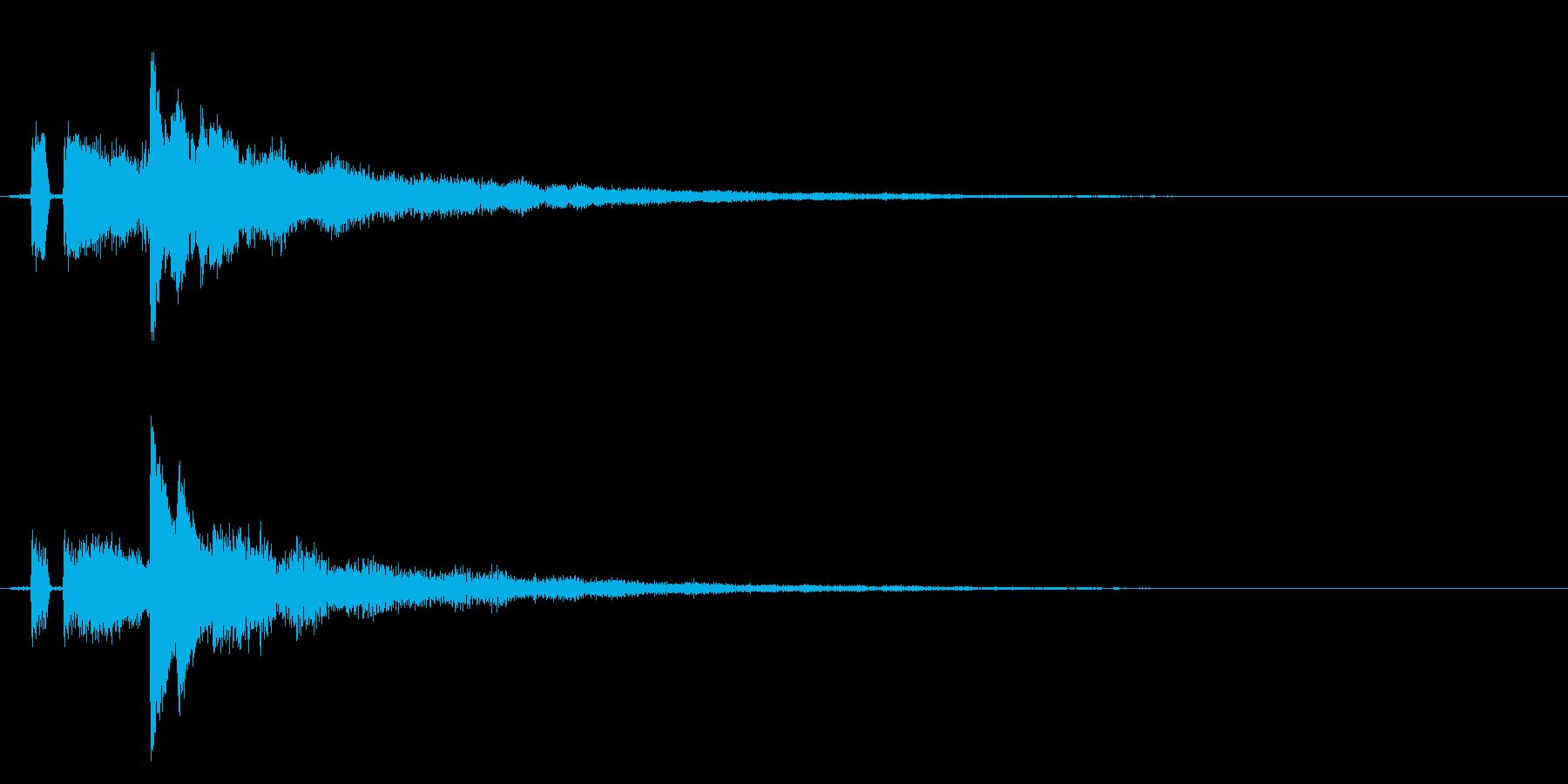 シンプルな決定/ボタン/クリック効果音4の再生済みの波形