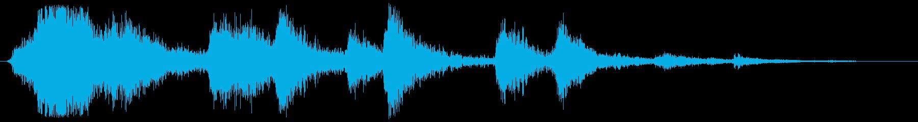 賽銭箱に硬貨を入れる チャン、チャリ×2の再生済みの波形