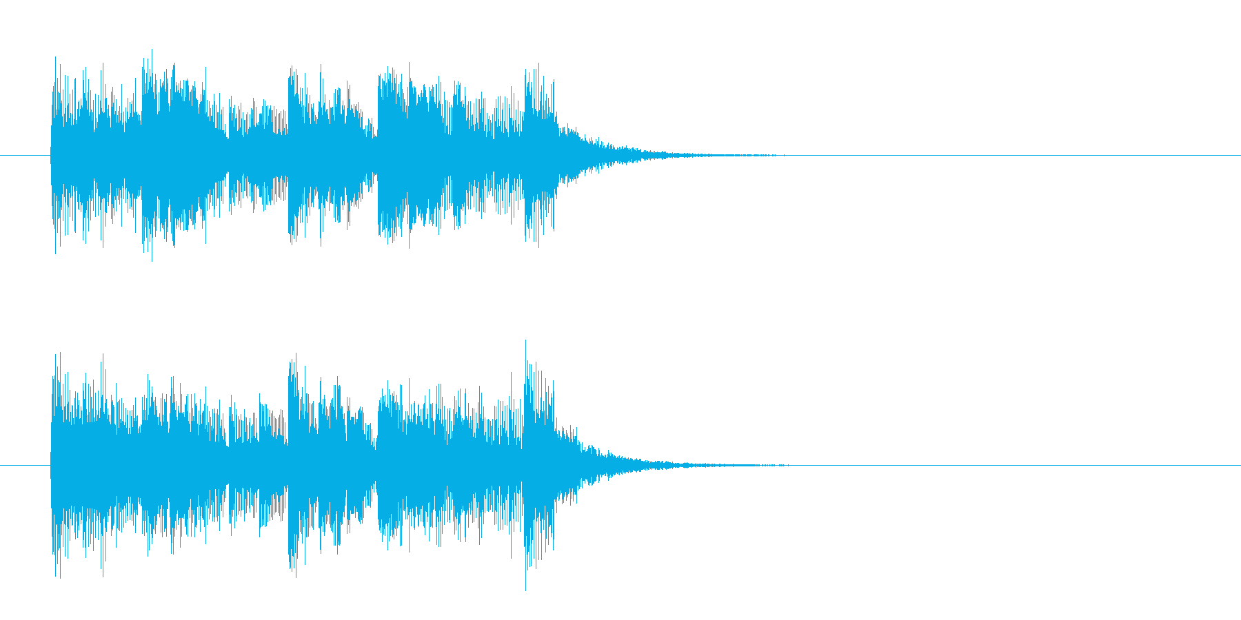 ファンキー・フュージョン系ジングルの再生済みの波形