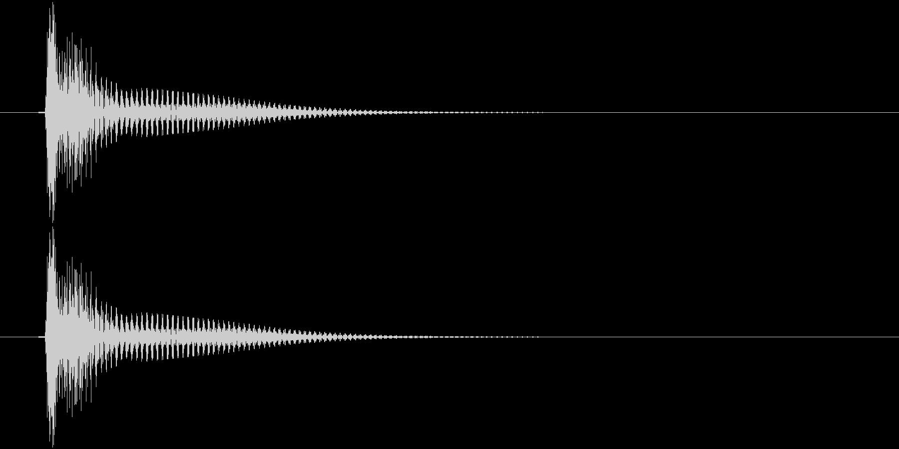 トン(高めの弦的な音)の未再生の波形