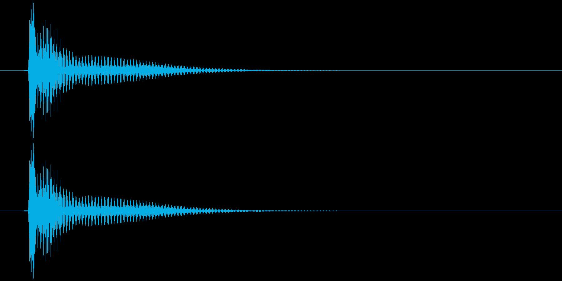トン(高めの弦的な音)の再生済みの波形