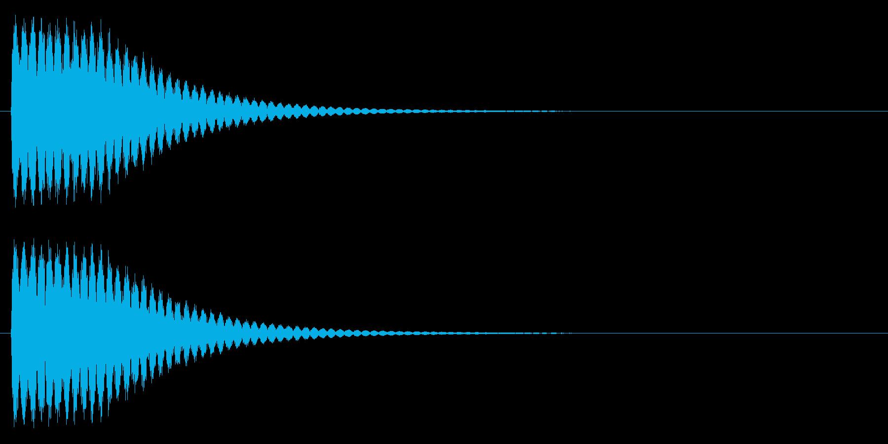 ビーム、発射、クラッシュの再生済みの波形