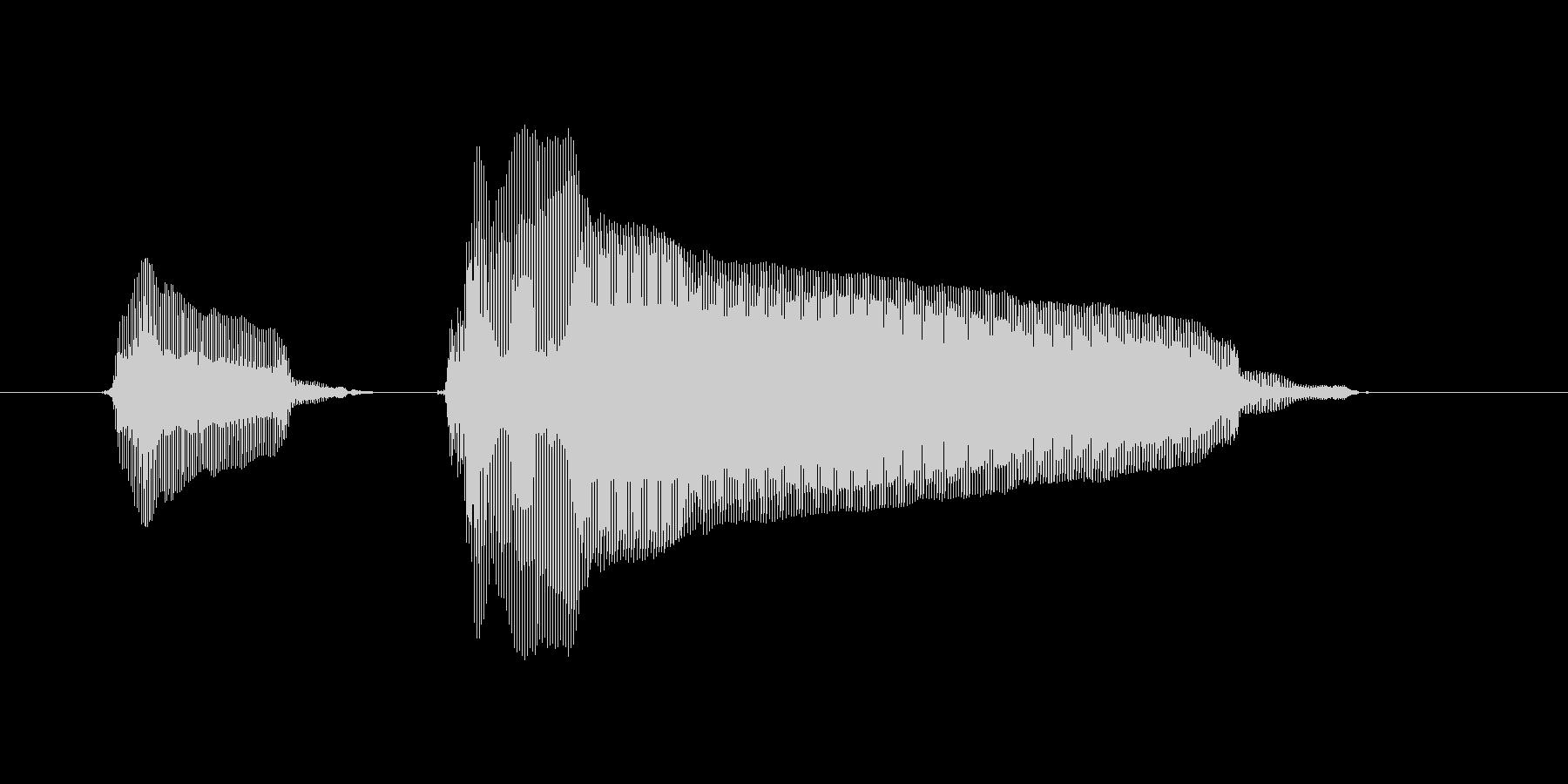 ピンポーンの未再生の波形