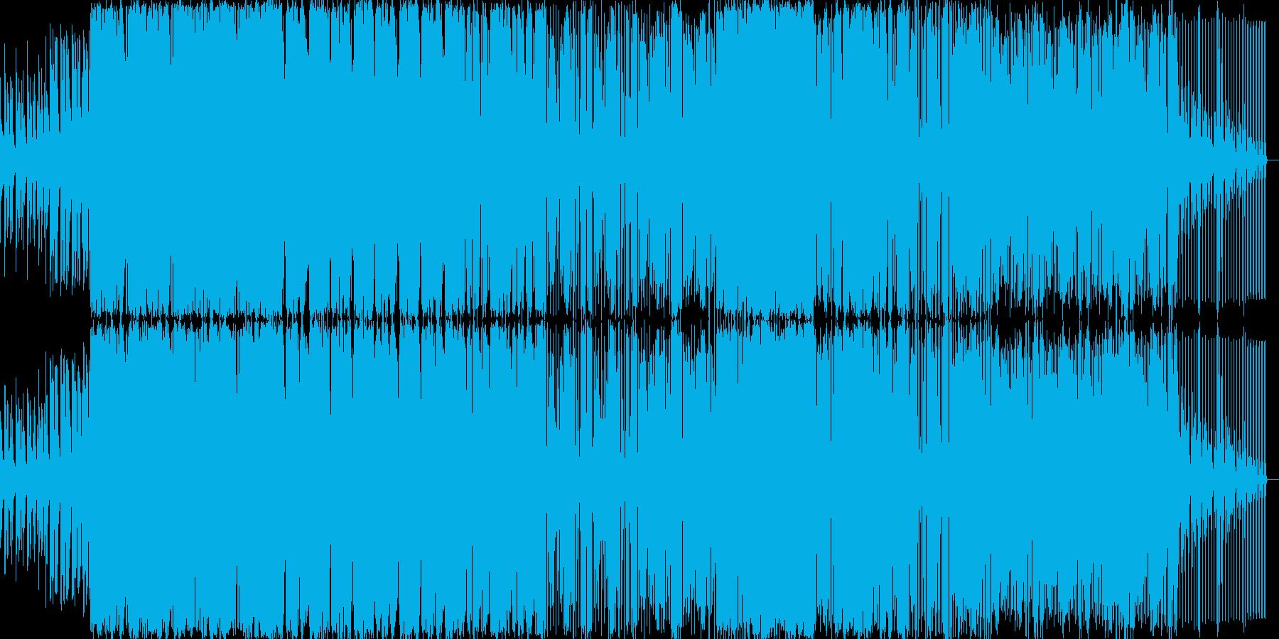 激し目な曲ですの再生済みの波形