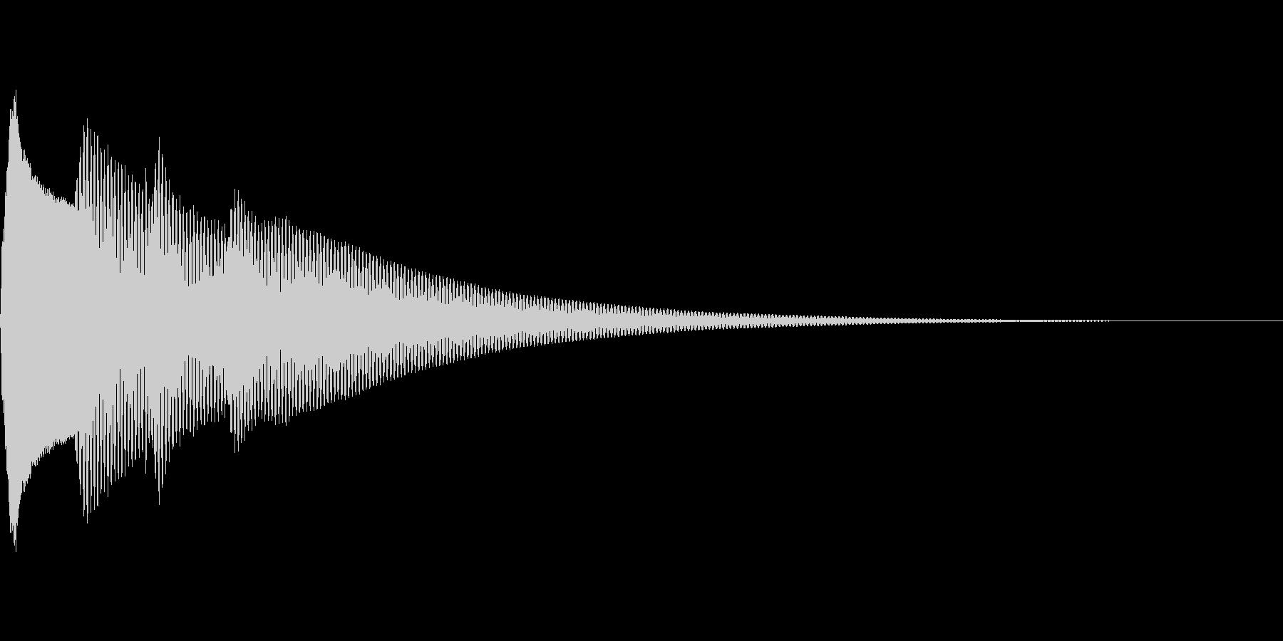 クイズ正解(ピンポーン×2)の未再生の波形