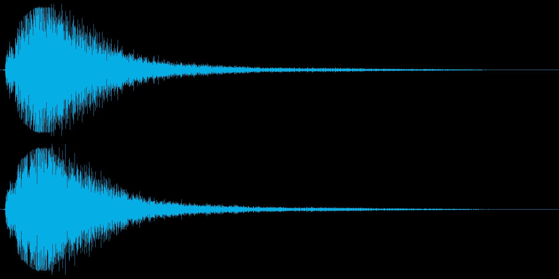 大きな鍋を叩いたような音の再生済みの波形