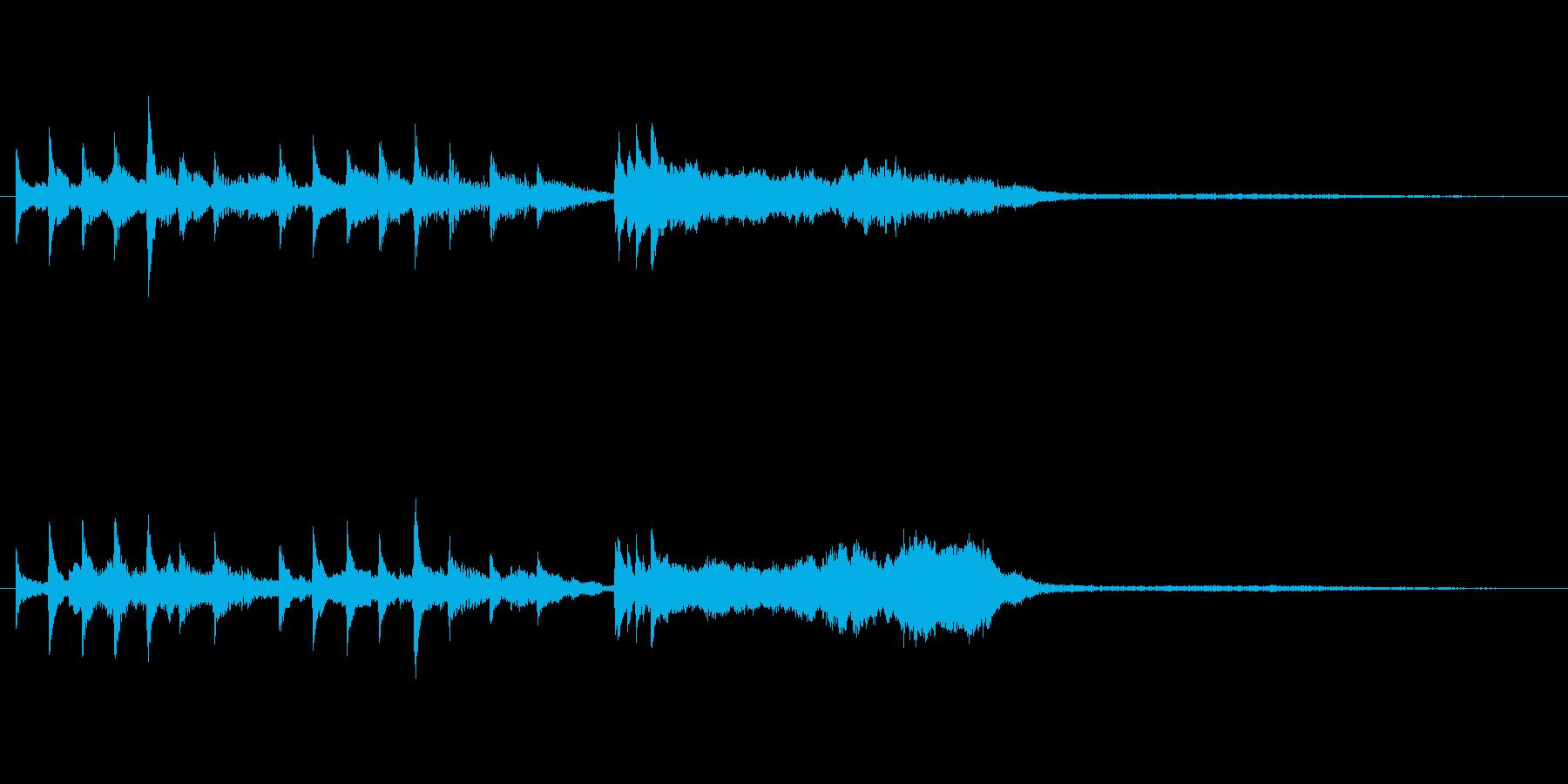 電車の発車ベル風SEの再生済みの波形