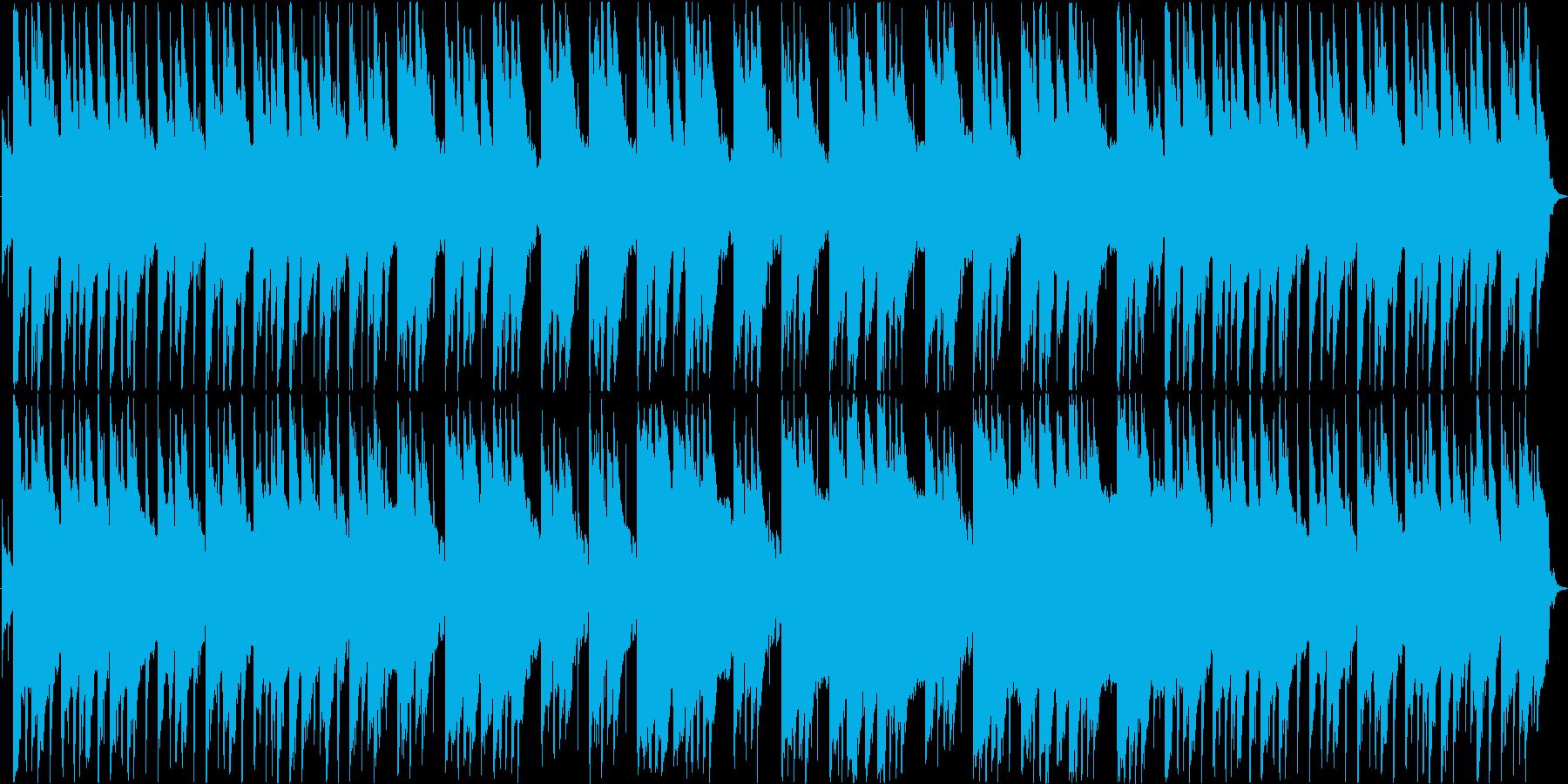 スローテンポで哀愁ある和風楽曲の再生済みの波形